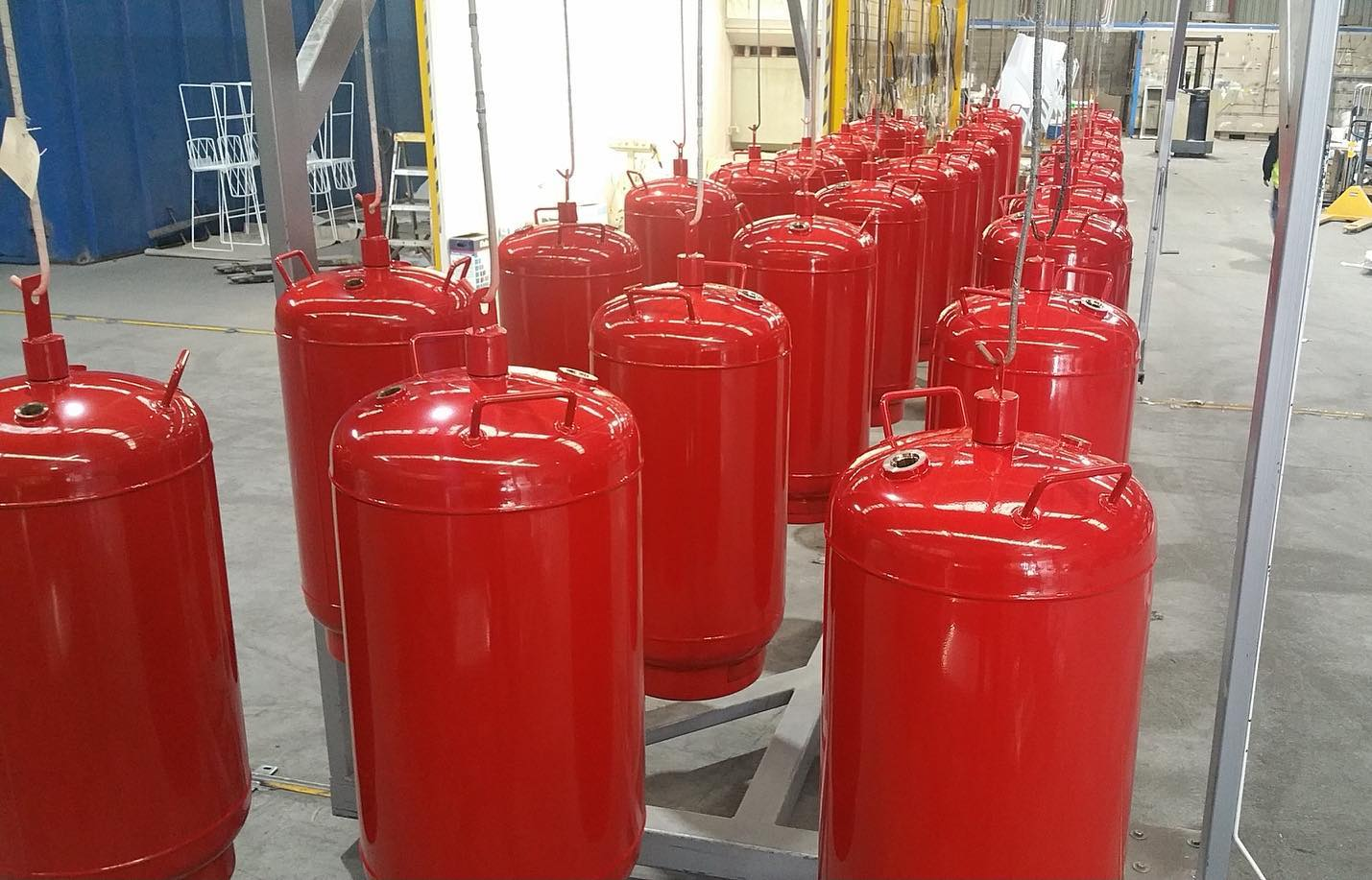 Signal Red Fire Extinguishers